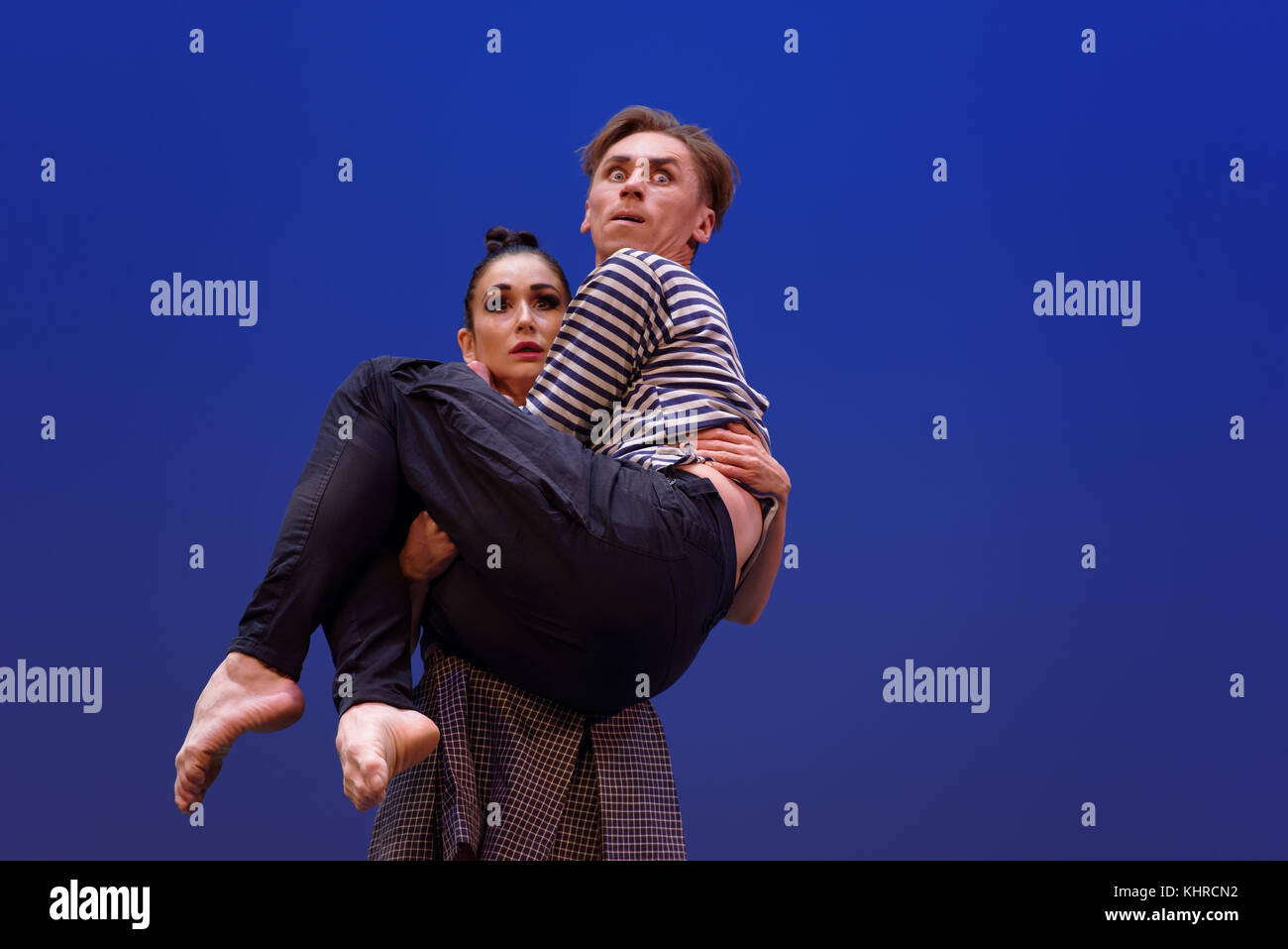 St. Petersburg, Russia - November 16, 2017: Ballet soloists of Mariinsky theater Alisa Petrenko and Igor Kolb perform - Stock Image