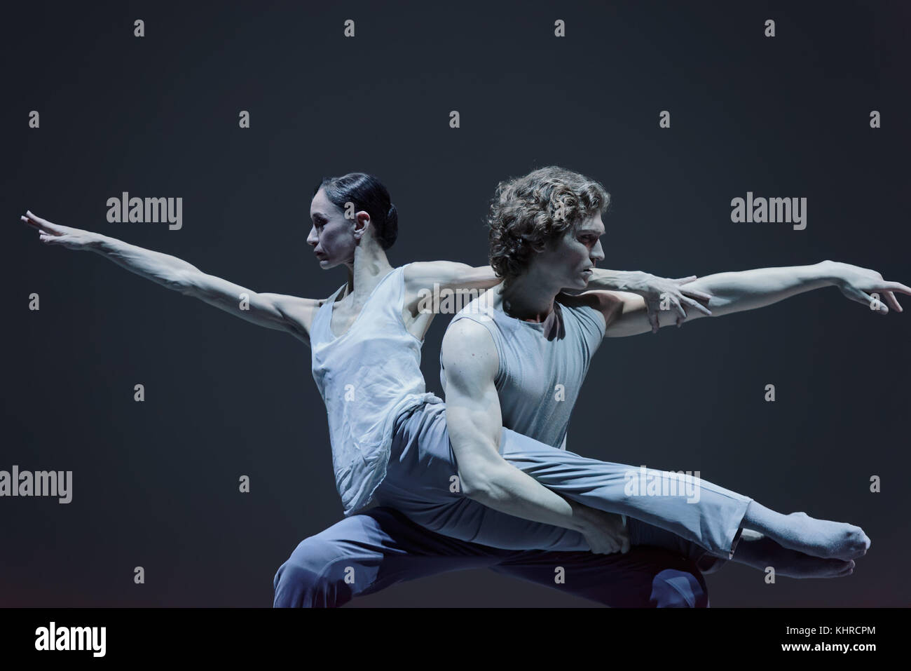 St. Petersburg, Russia - November 16, 2017: Ballet dancers Lucia Lacarra and Marlon Dino perform during gala concert - Stock Image