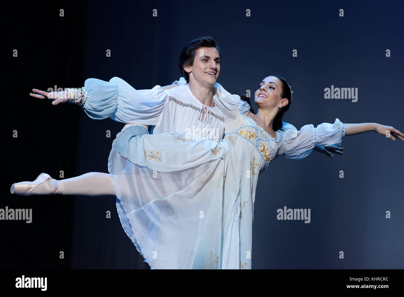 St. Petersburg, Russia - November 16, 2017: Soloists of Novosibirsk Opera and Ballet Theater Anna Germizeeva and - Stock Image
