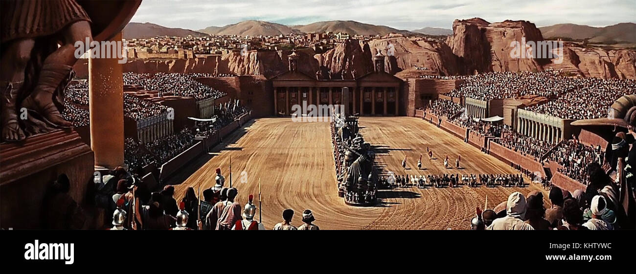 BEN-HUR 1959 MGM film . The chariot race set - Stock Image
