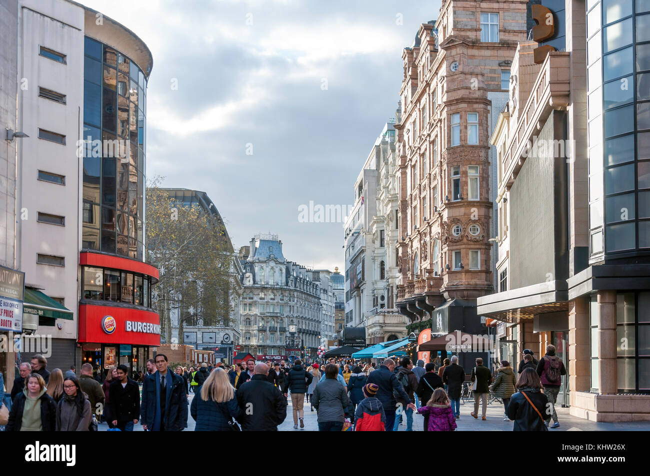 Cranbourn Street, Leicester Square, West End, City of Westminster, Greater London, England, United Kingdom - Stock Image