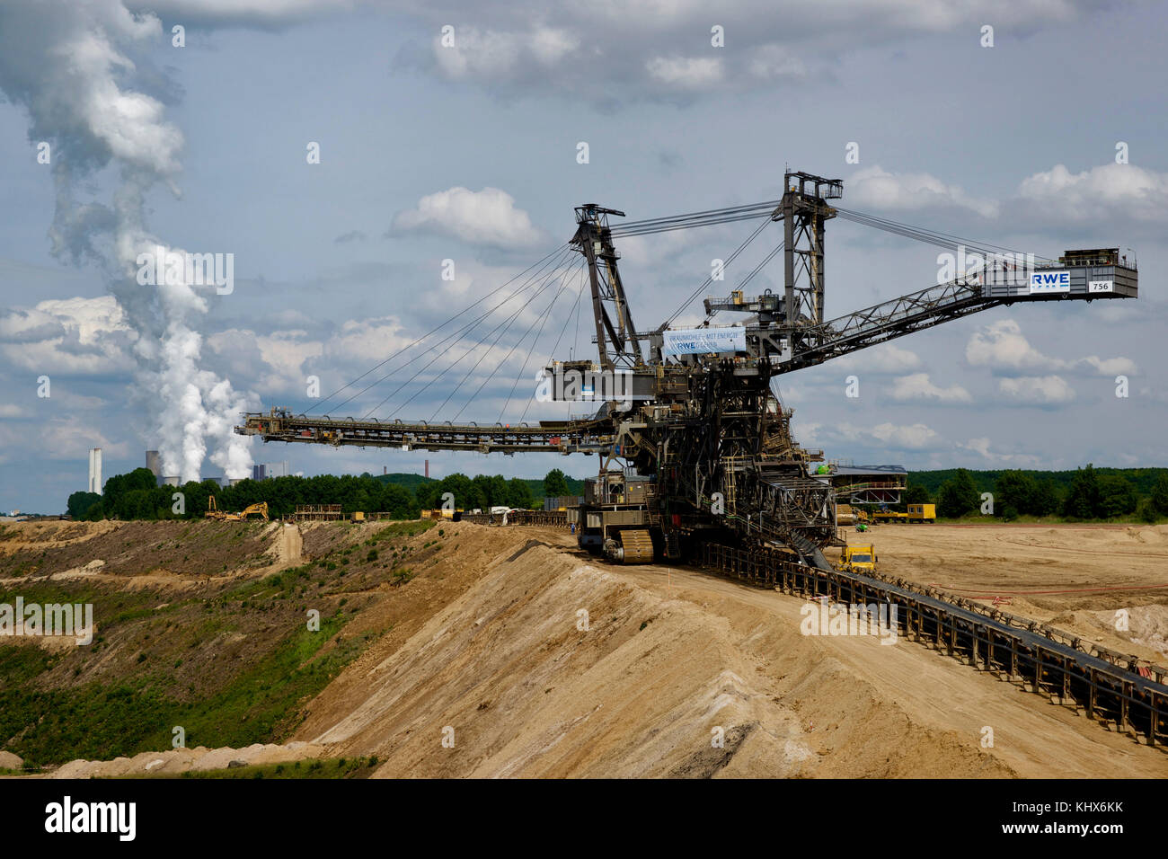 Above-ground brown coal mining in Germany. - Stock Image