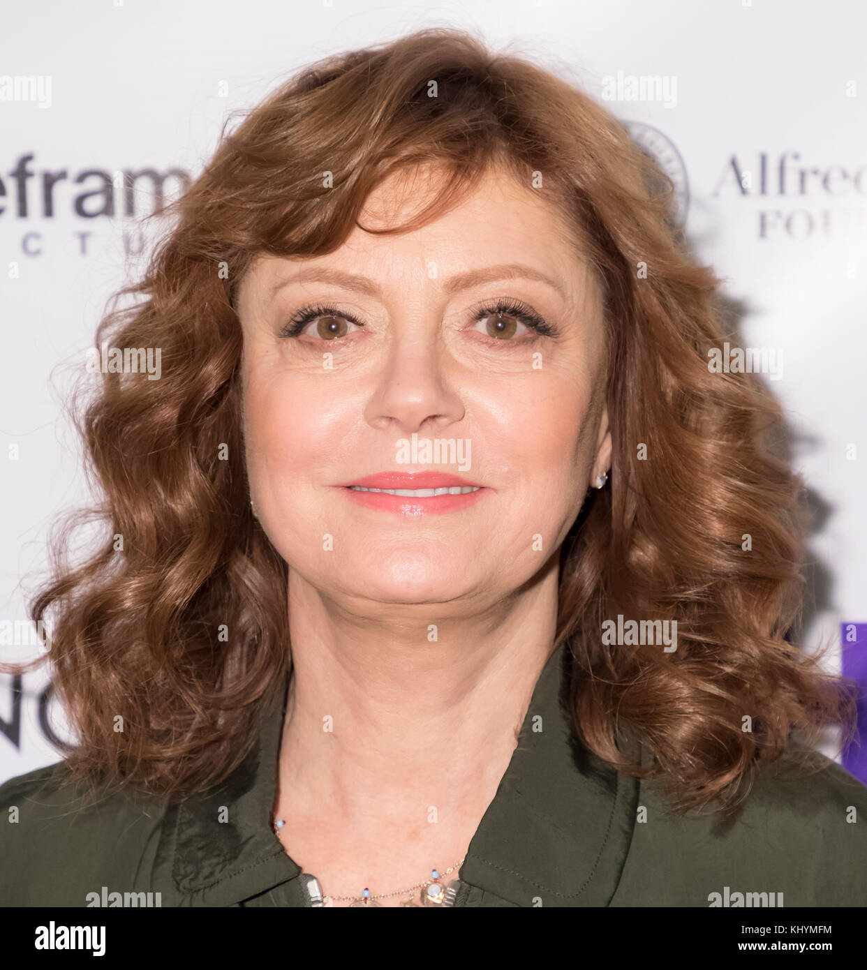 New York, USA. 20th Nov, 2017. Susan Sarandon attends Theatrical opening of BOMBSHELL: THE HEDY LAMARR STORY at - Stock Image