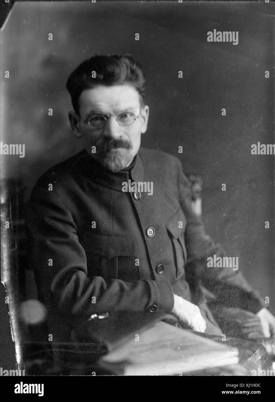 Mikhail Ivanovich Kalinin (1875 – 1946), Bolshevik revolutionary and Marxist–Leninist functionary. He served as - Stock Image