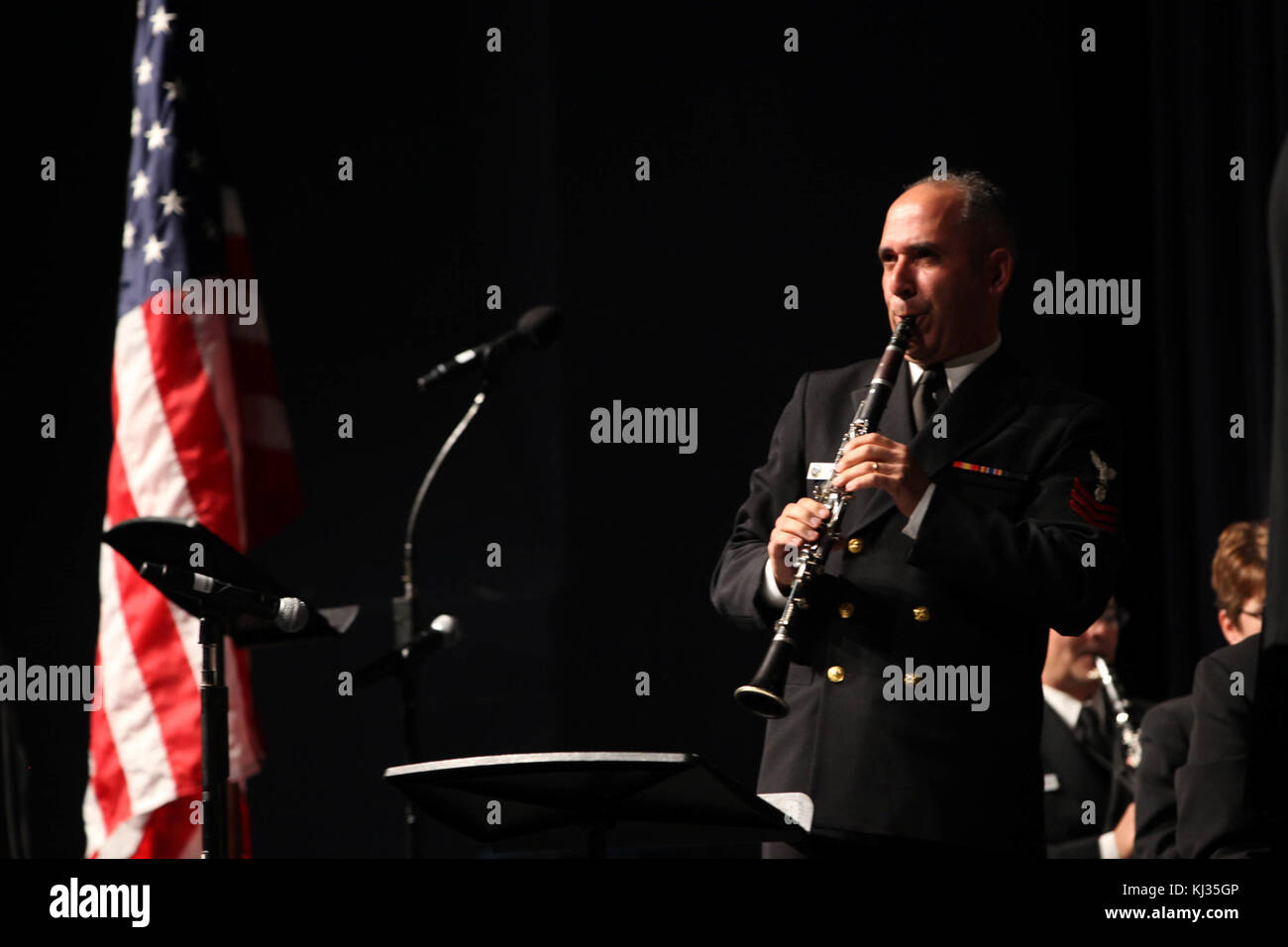 Navy Band Music in the Schools at Stonebridge H.S. in Ashburn, Va. (10463040024) - Stock Image