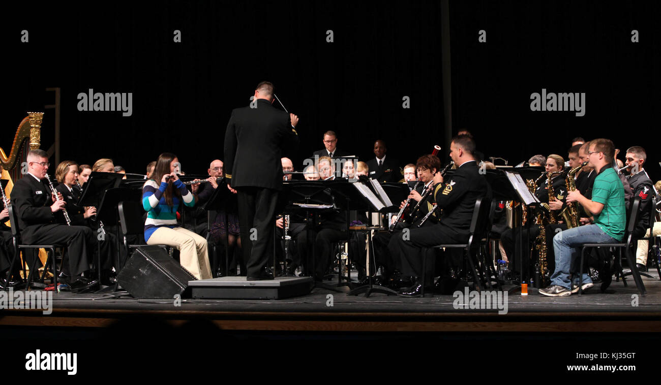 Navy Band Music in the Schools at Stonebridge H.S. in Ashburn, Va. (10463038515) - Stock Image