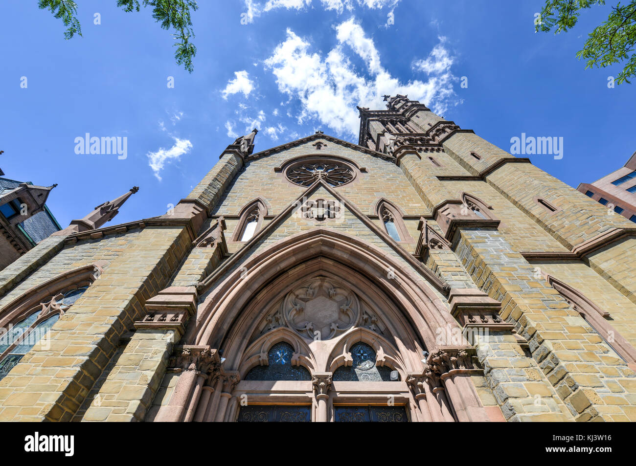 St. Peter's Episcopal Church, also known as St. Peter's Church, which is located in downtown Albany, New - Stock Image