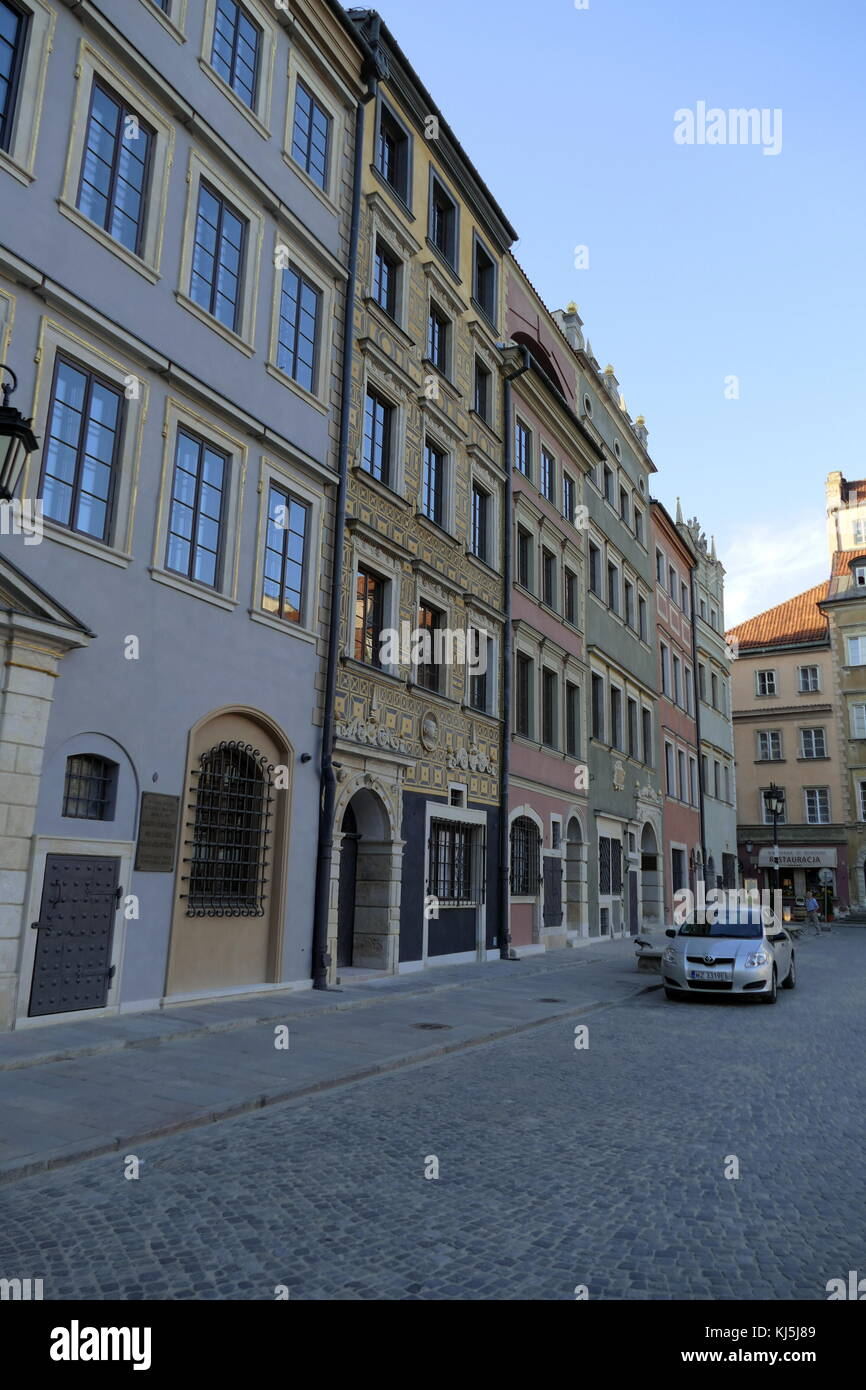 The Warsaw Old Town is the oldest part of the capital city. During the Invasion of Poland (1939), much of the district - Stock Image