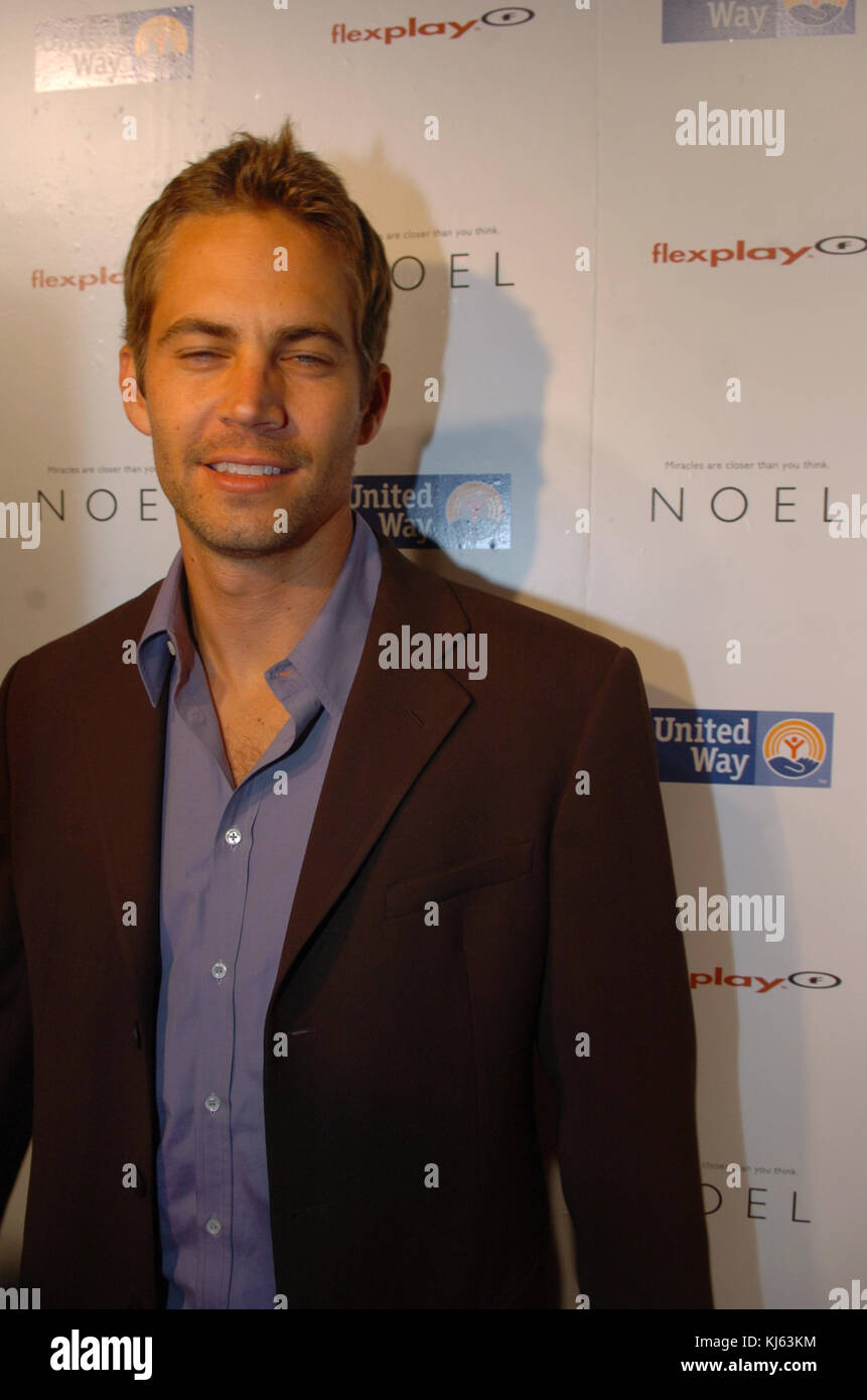 MIAMI, FL - NOVEMBER 30: Actor Paul Walker, who shot to fame as star of the high-octane street racing franchise - Stock Image