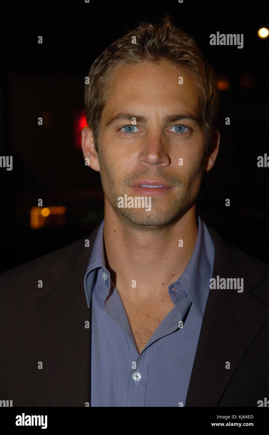 MIAMI, FL - NOVEMBER 30: (EXCLUSIVE COVERAGE)  Actor Paul Walker, who shot to fame as star of the high-octane street - Stock Image