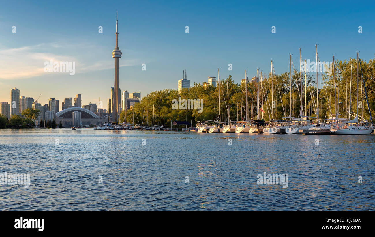 Beautiful Toronto skyline at sunset. - Stock Image