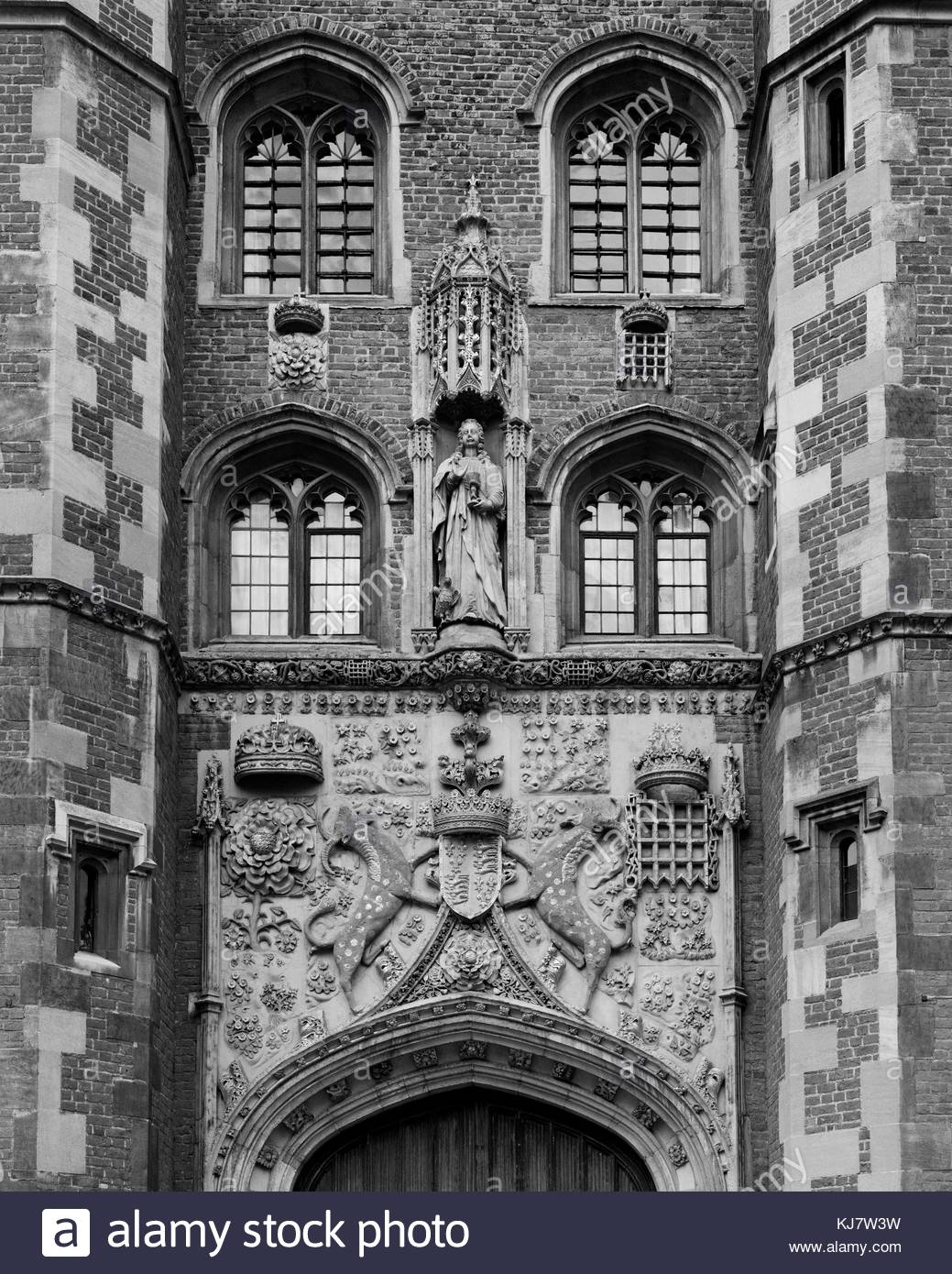 Detail on the Great Gate of St John's College Cambridge - Stock Image