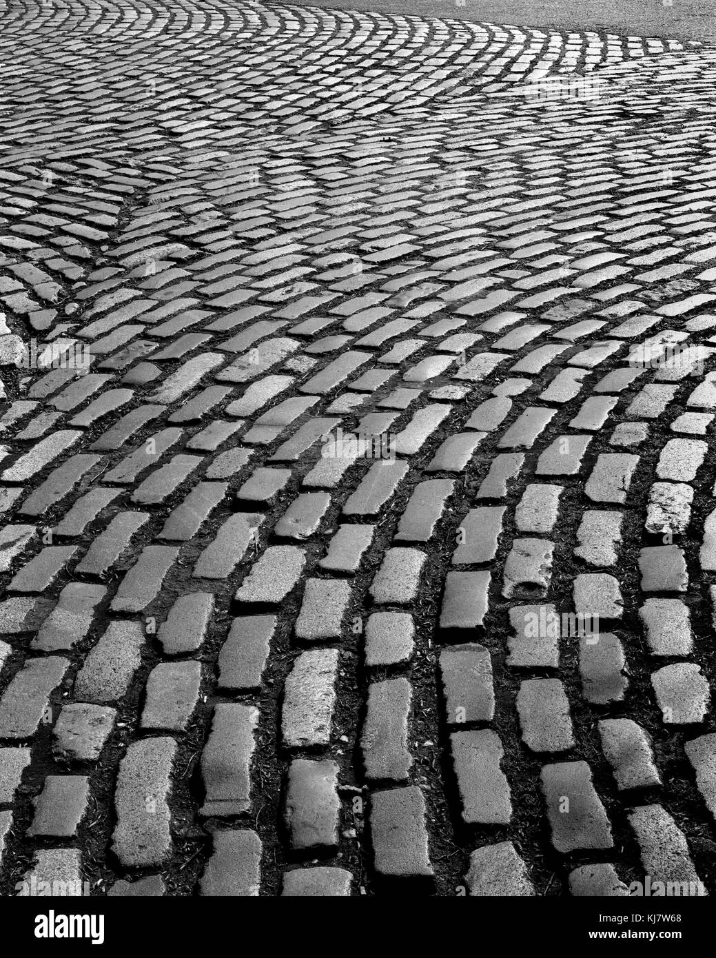Cobblestones at the Cambridge University Sidgwick Site - Stock Image