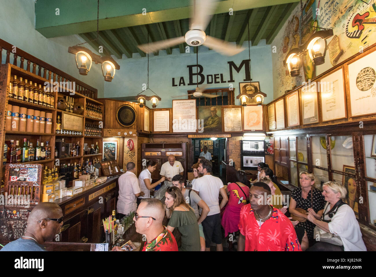 La Bodeguita Del Medio famous bar in Old Havana, Cuba Stock Photo