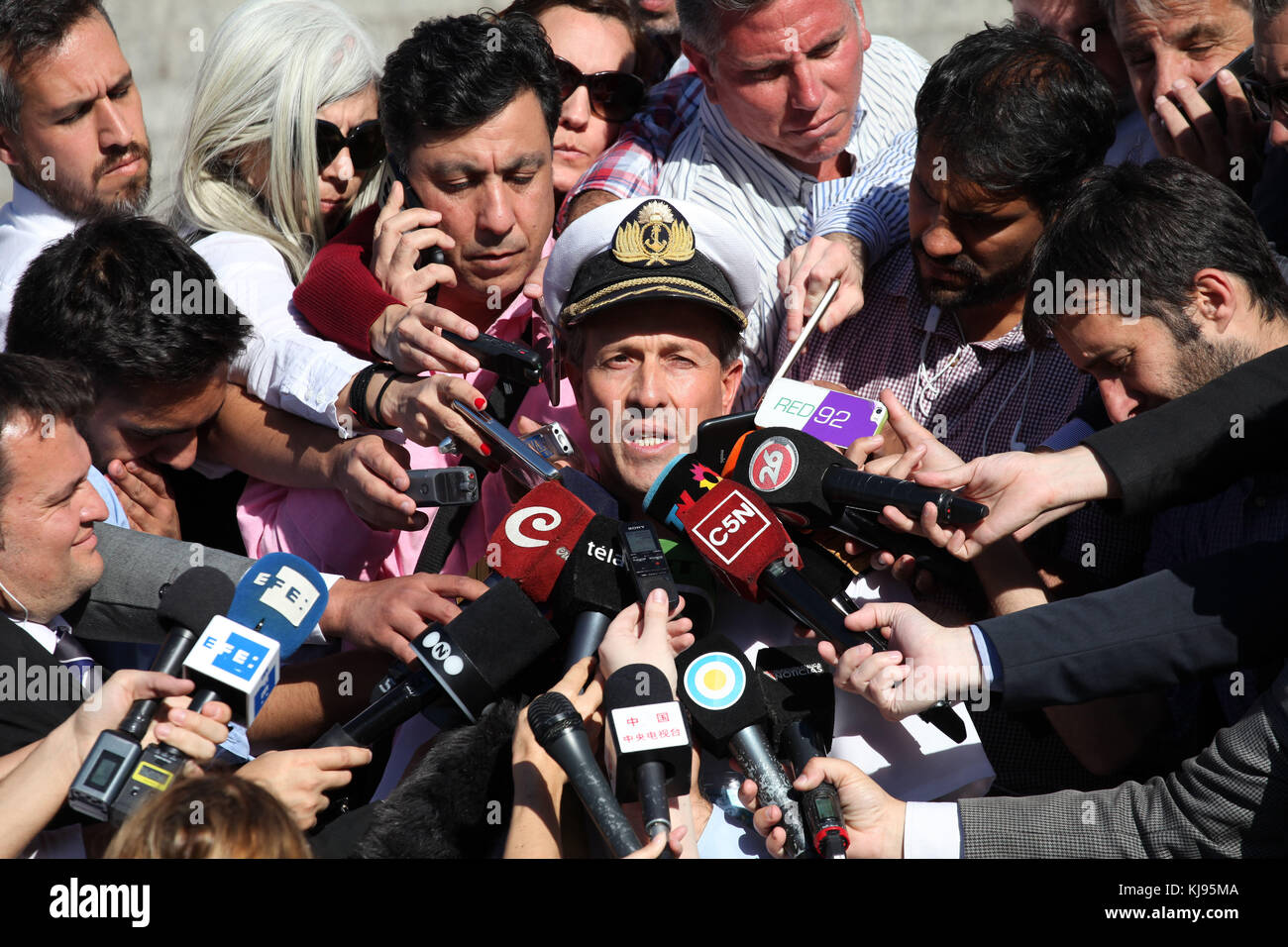 Buenos Aires, Buenos Aires, Argentina. 21st Nov, 2017. More than a 50 boats and aircrafts from Argentina, the United - Stock Image