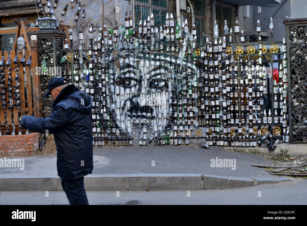 Shenyang, Shenyang, China. 23rd Nov, 2017. (EDITORIAL USE ONLY. CHINA OUT) .A special portrait of Charlie Chaplin - Stock Image