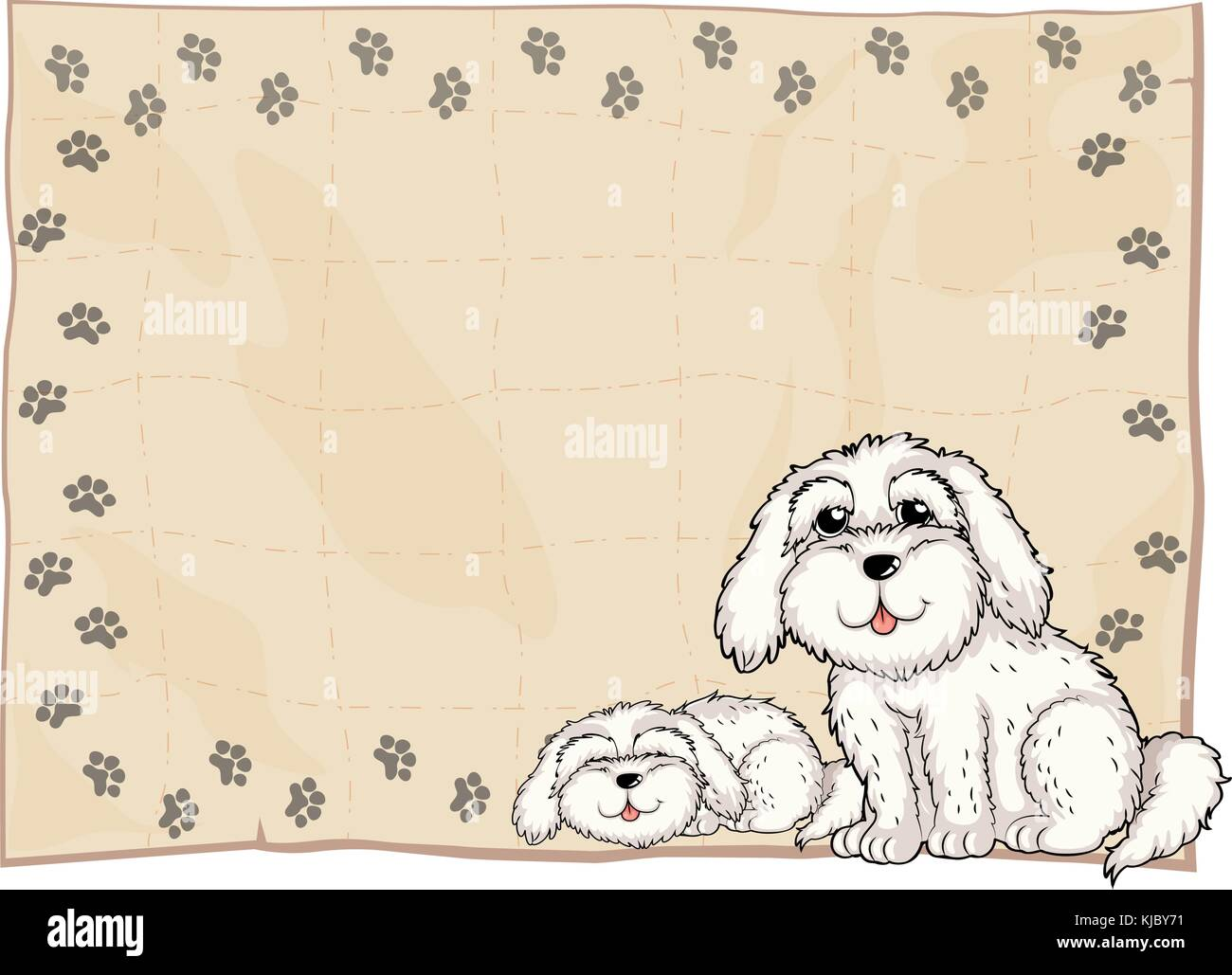 Two Dogs Stock Vector Images