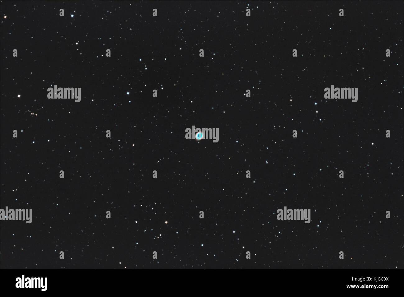 Astrophotography of M57 Ring nebula, Planetary nebula - Stock Image