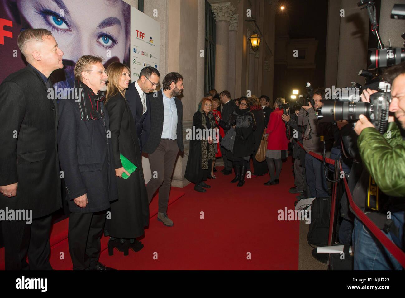 Turin, Piedmont, Italy. 24th Nov, 2017. Torino, Italy-November 24, 2017: Opening Ceremony of the 35 Torino Film - Stock Image