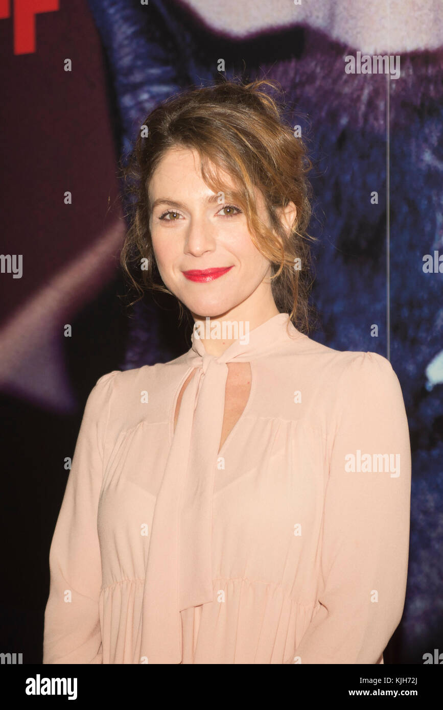 Turin, Piedmont, Italy. 24th Nov, 2017. Torino, Italy-November 24, 2017: Isabella Ragonese on the redcarpet of the - Stock Image