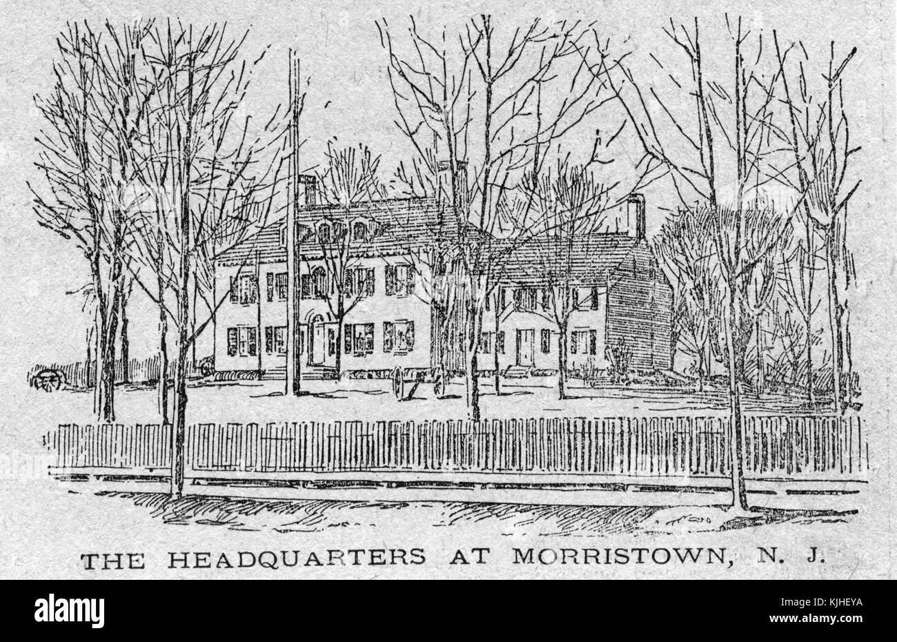 An image depicting the Ford Mansion, during the American Revolutionary War it served as the headquarters of General - Stock Image