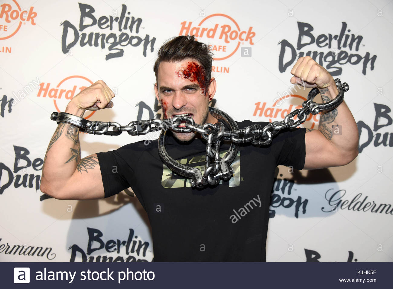 Halloween Party hosted by Natascha Ochsenknecht at Berlin Dungeon.  Featuring: Marc Barthel Where: Berlin, Germany - Stock Image