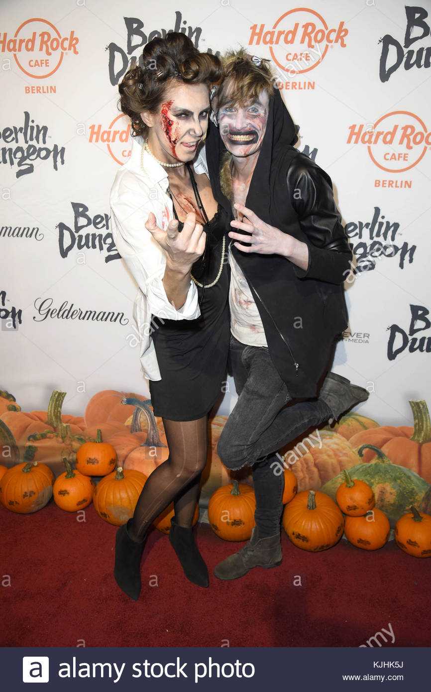 Halloween Party hosted by Natascha Ochsenknecht at Berlin Dungeon.  Featuring: Katrin Wrobel, Lars Urban Where: - Stock Image