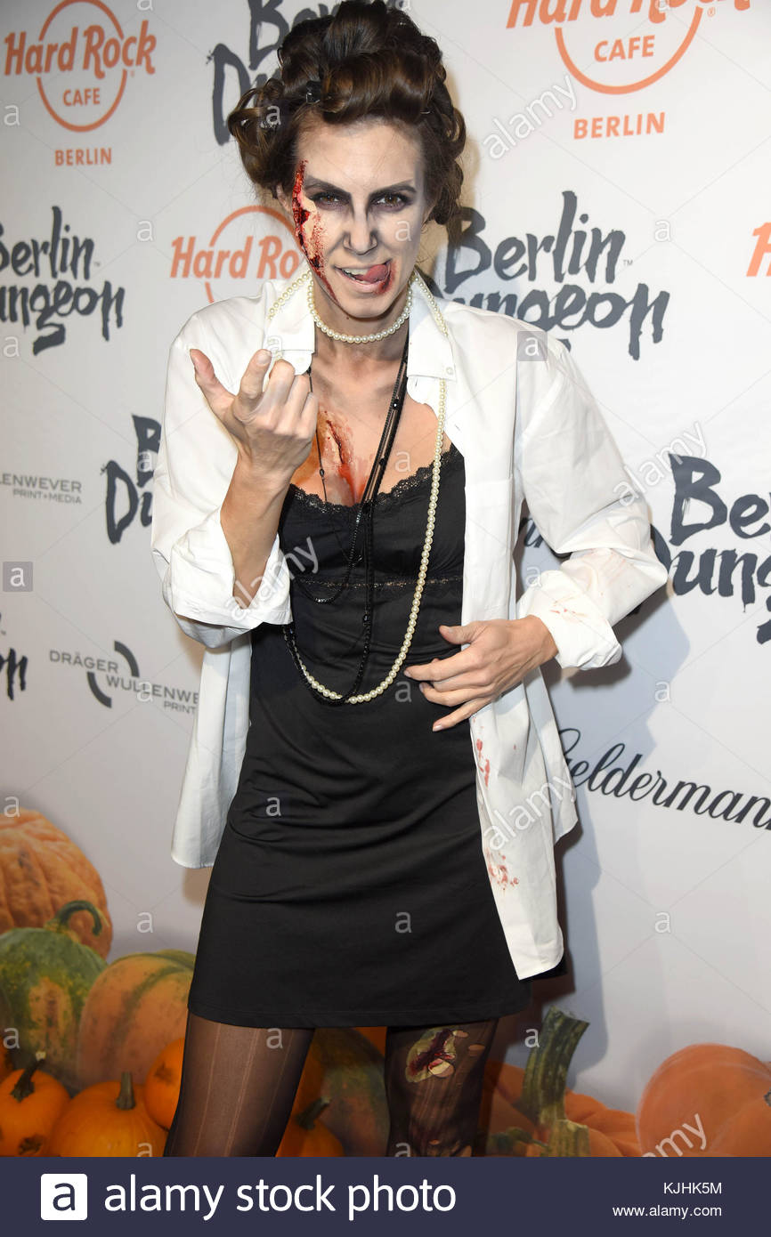 Halloween Party hosted by Natascha Ochsenknecht at Berlin Dungeon.  Featuring: Katrin Wrobel Where: Berlin, Germany - Stock Image