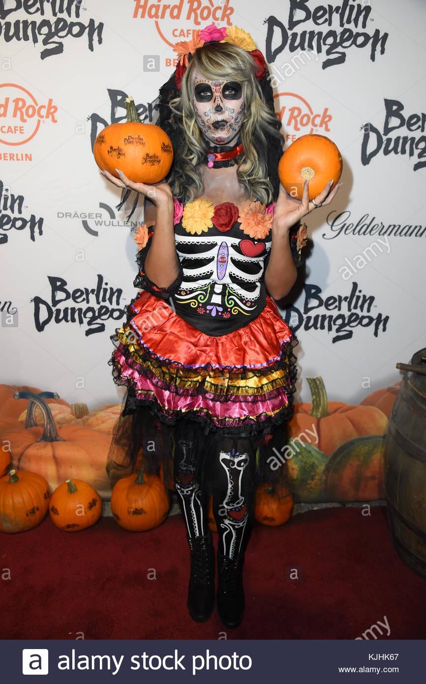 Halloween Party hosted by Natascha Ochsenknecht at Berlin Dungeon.  Featuring: Annemarie Eilfeld Where: Berlin, - Stock Image