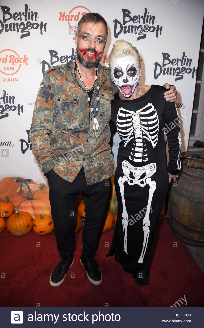 Halloween Party hosted by Natascha Ochsenknecht at Berlin Dungeon.  Featuring: Harry Seedorf, Jana Windolph Where: - Stock Image