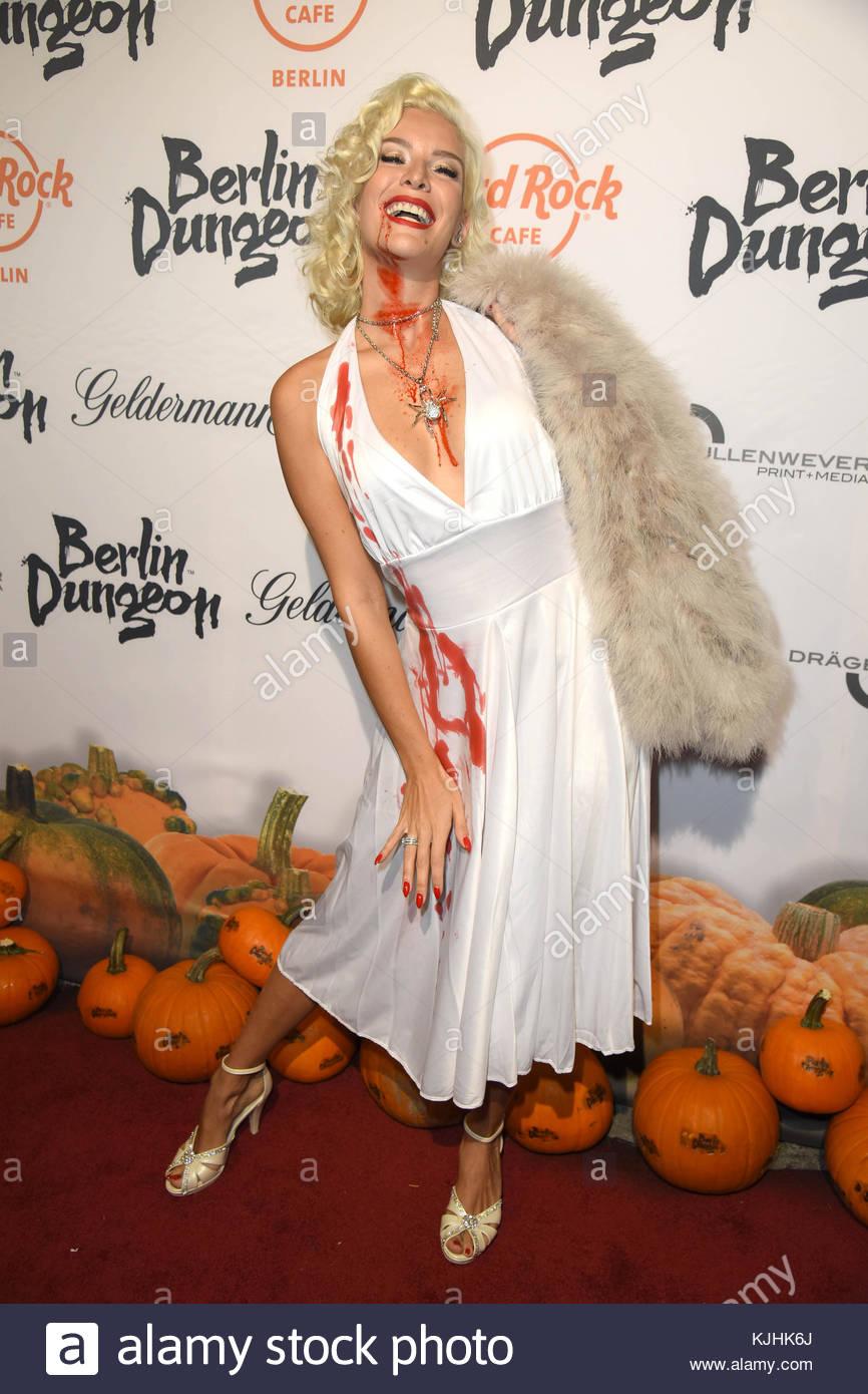 Halloween Party hosted by Natascha Ochsenknecht at Berlin Dungeon.  Featuring: Oksana Kolenitchenko Where: Berlin, - Stock Image