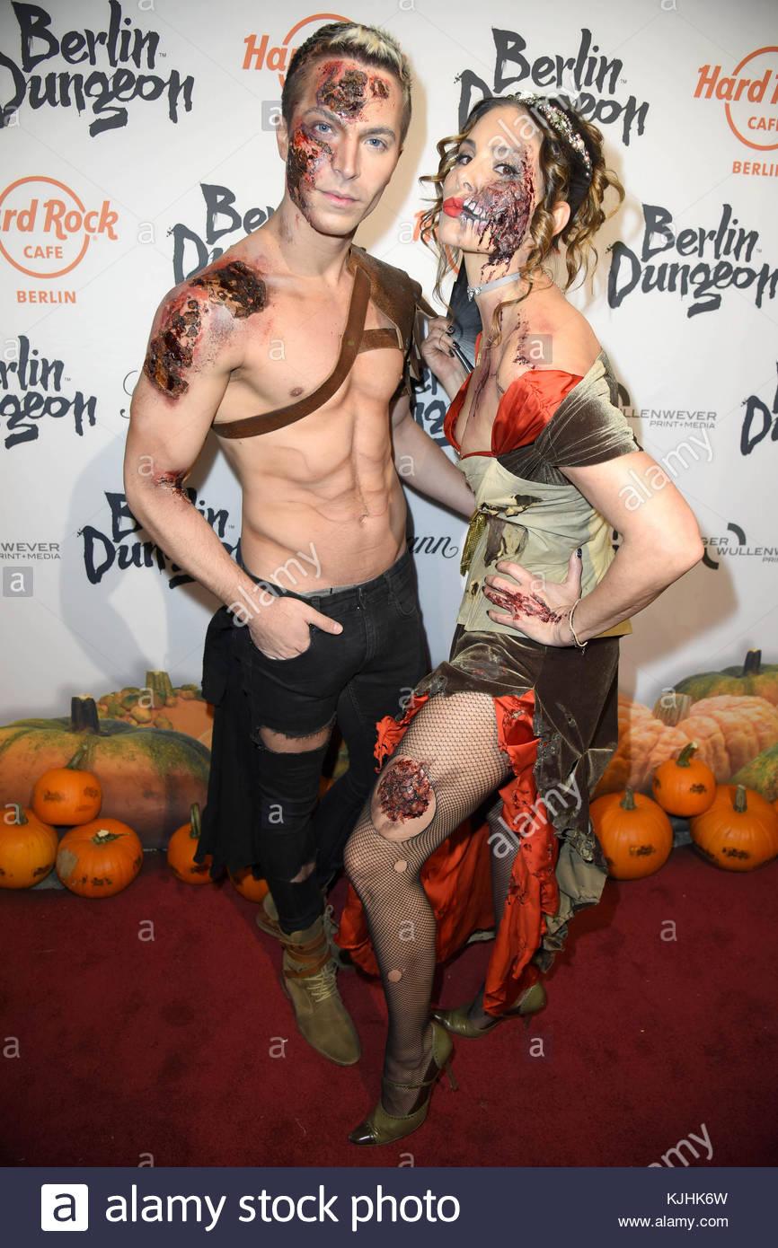 Halloween Party hosted by Natascha Ochsenknecht at Berlin Dungeon.  Featuring: Julian David, Daniela Dany Michalski - Stock Image