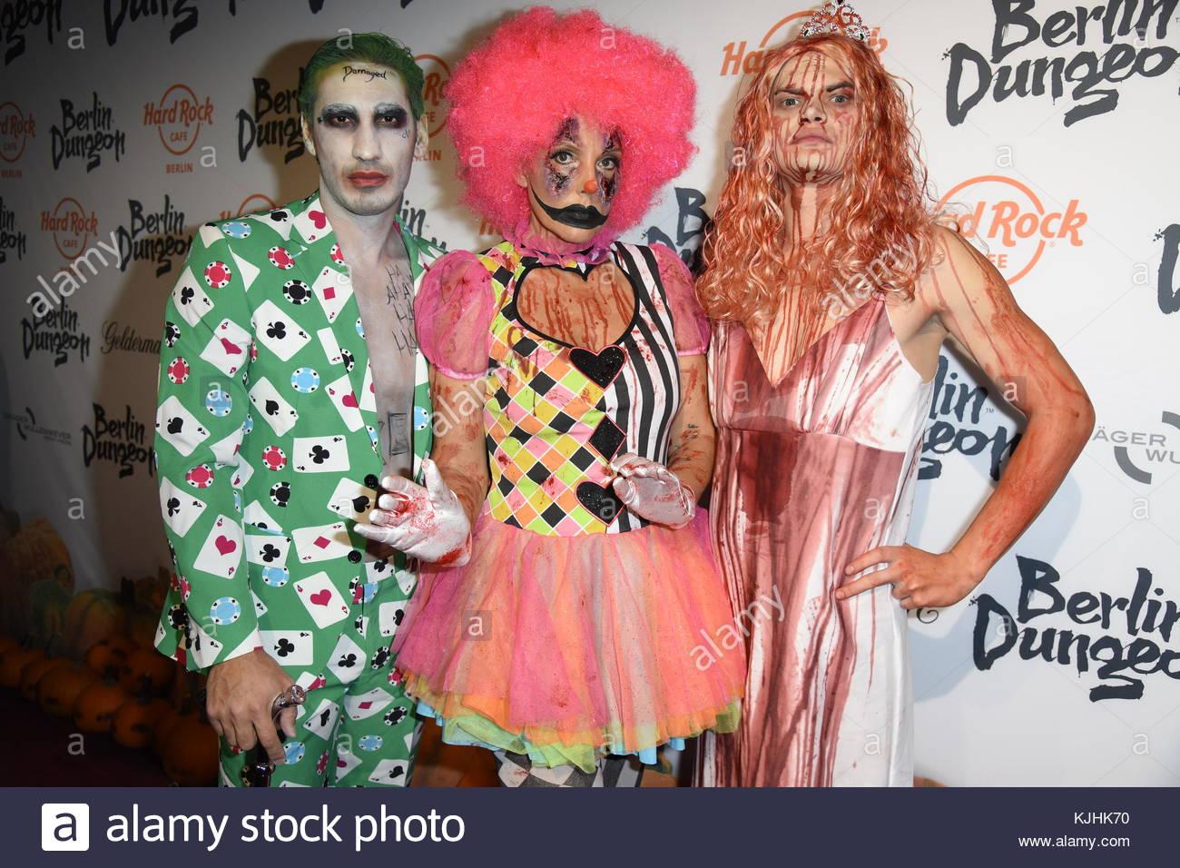 Halloween Party hosted by Natascha Ochsenknecht at Berlin Dungeon.  Featuring: Natascha Ochsenknecht, Umut Kekilli, - Stock Image