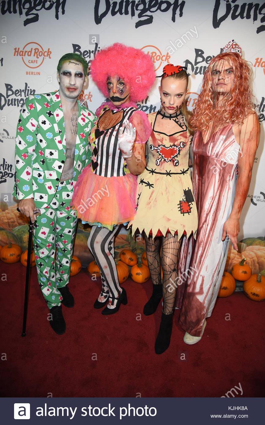 Halloween Party hosted by Natascha Ochsenknecht at Berlin Dungeon.  Featuring: Natascha Ochsenknecht mit Freund - Stock Image