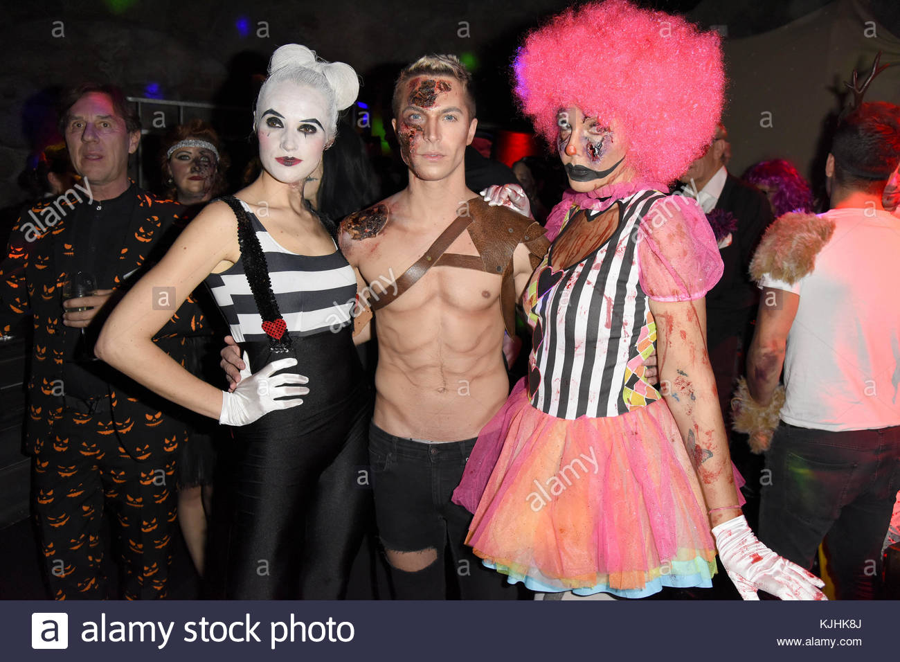 Halloween Party hosted by Natascha Ochsenknecht at Berlin Dungeon.  Featuring: Anna Hofbauer, Julian David, Natascha - Stock Image