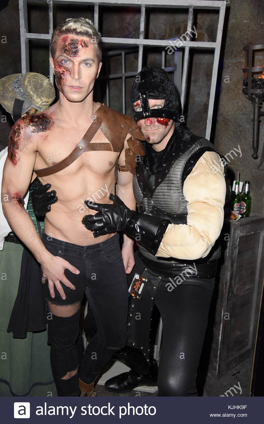 Halloween Party hosted by Natascha Ochsenknecht at Berlin Dungeon.  Featuring: Julian David, Daniel Termann Where: - Stock Image