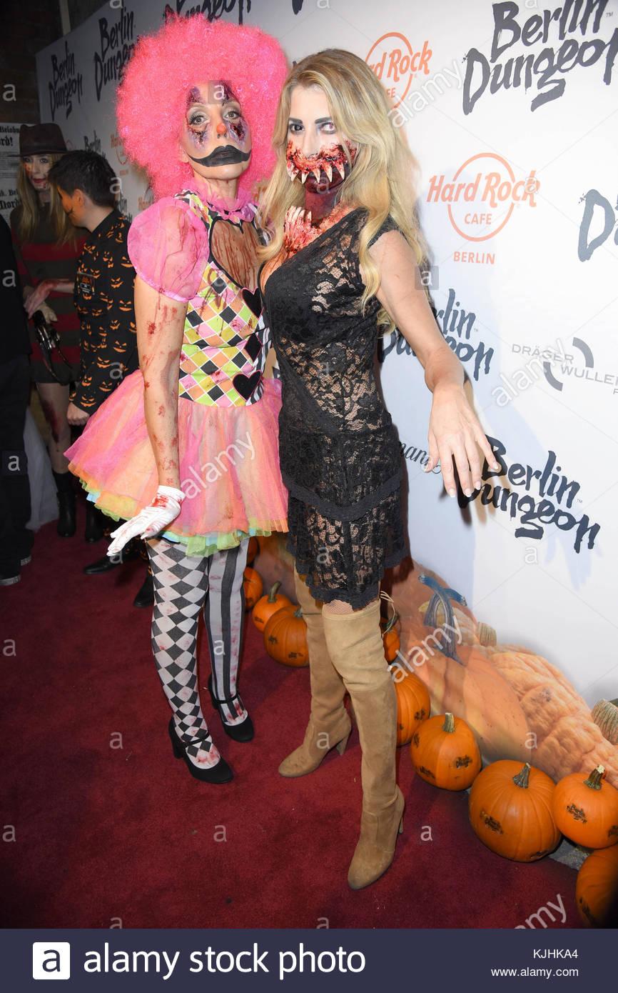 Halloween Party hosted by Natascha Ochsenknecht at Berlin Dungeon.  Featuring: Natascha Ochsenknecht, Giulia Siegel - Stock Image