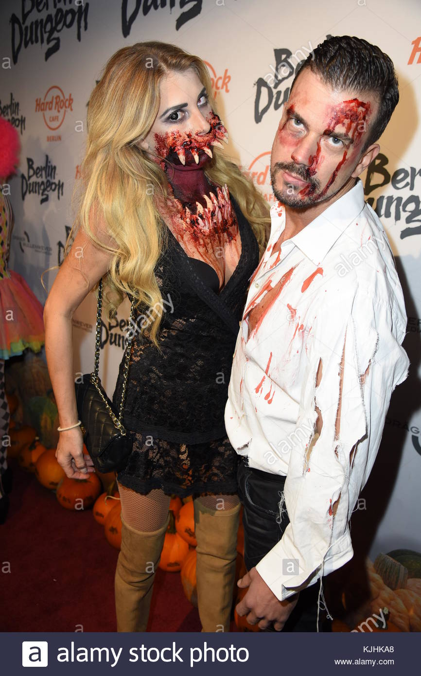 Halloween Party hosted by Natascha Ochsenknecht at Berlin Dungeon.  Featuring: Giulia Siegel, Ludwig Heer Where: - Stock Image