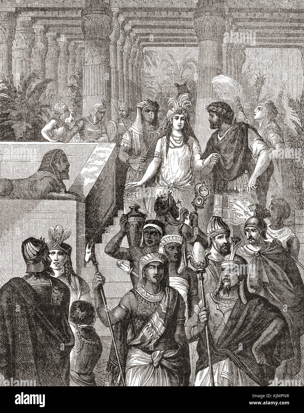 Antony and Cleopatra in Egypt.  Cleopatra VII Philopator, 69 - 30 BC, aka Cleopatra.  Last active ruler of the Ptolemaic - Stock Image