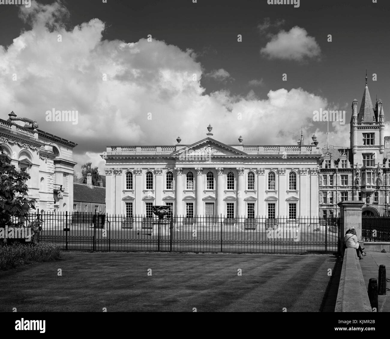 Cambridge University Senate House, Old Schools and Gonville & Caius College on King's Parade - Stock Image