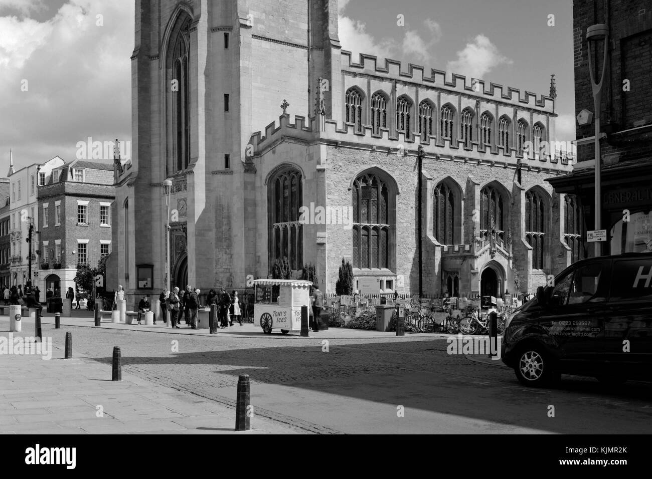 Great St Mary's Church on King's Parade Cambridge - Stock Image