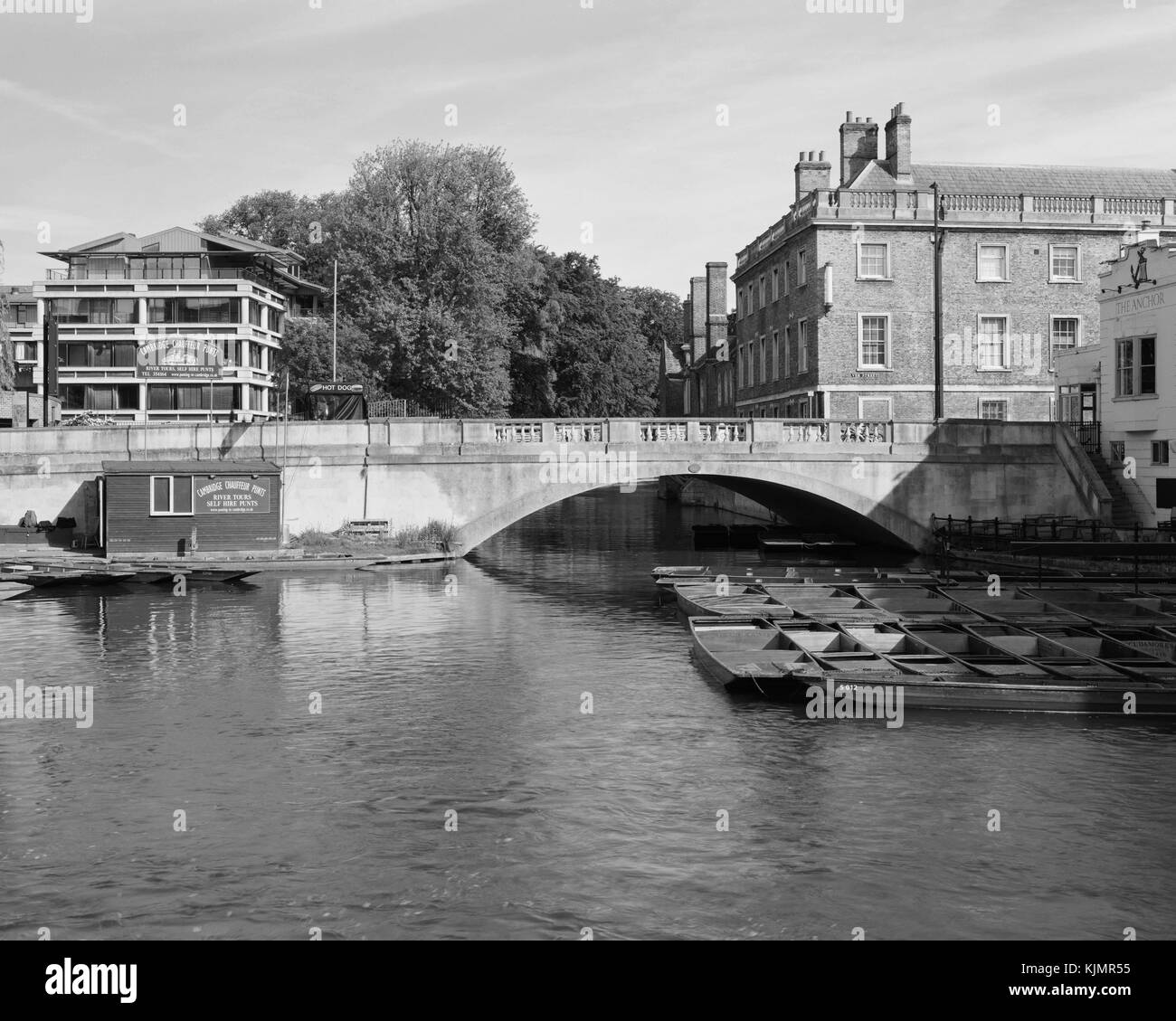 Silver Street Bridge over the River Cam in Cambridge - Stock Image
