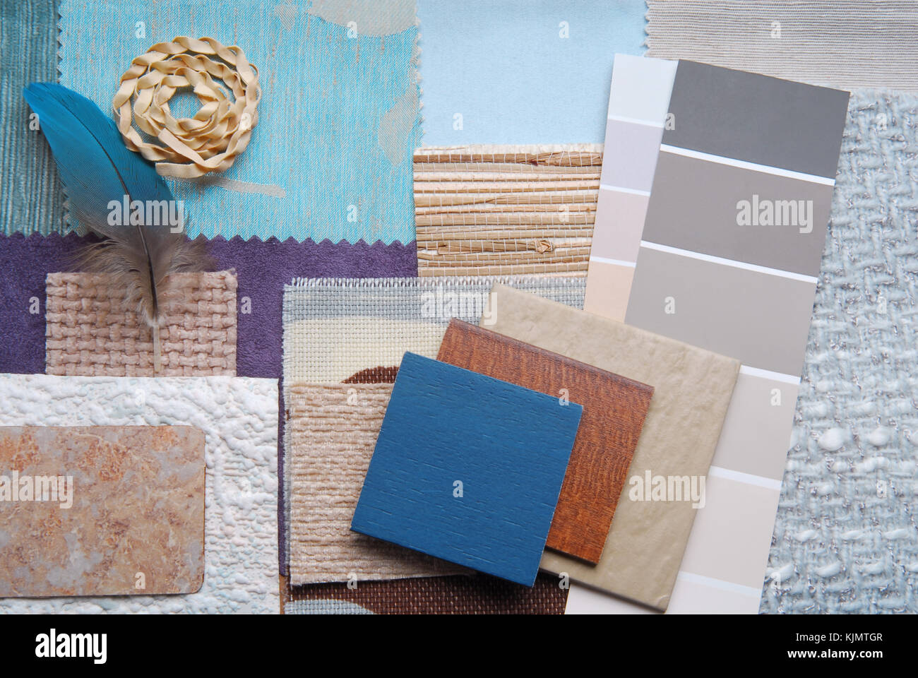 Paint Swatches Blue Stock Photos Paint Swatches Blue