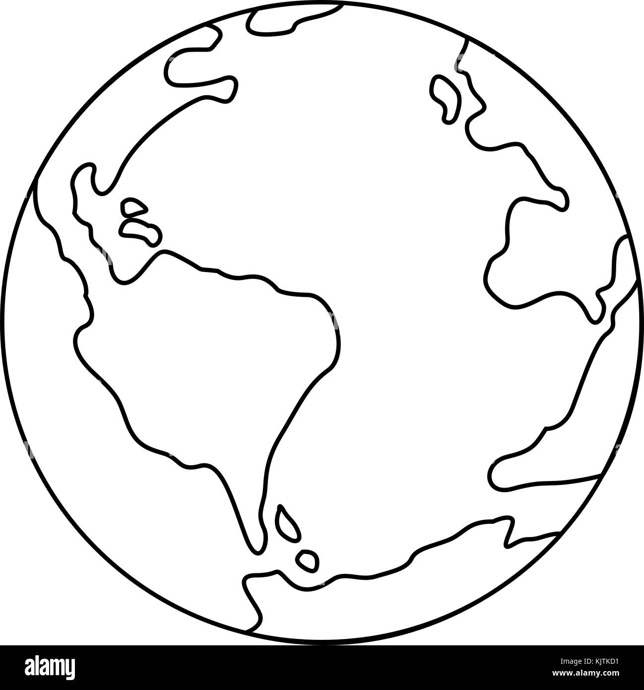 Line Drawing Earth : Line drawing world map stock photos