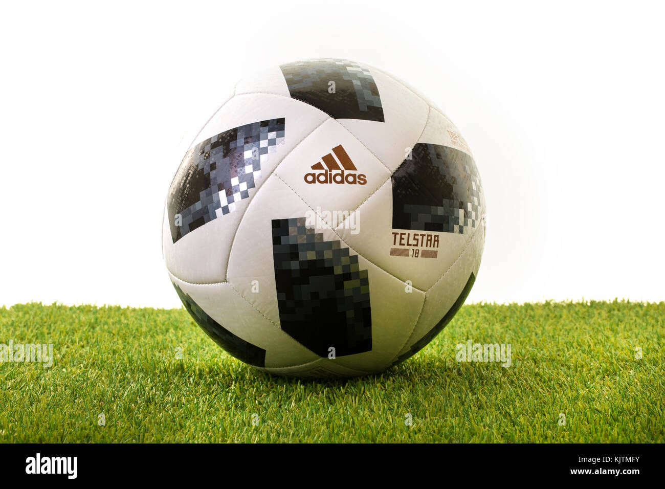 SWINDON, UK - NOVEMBER 18, 2017: Adidas Telstar Top Glider World Cup 2018 Football, The Official Matchball for the - Stock Image