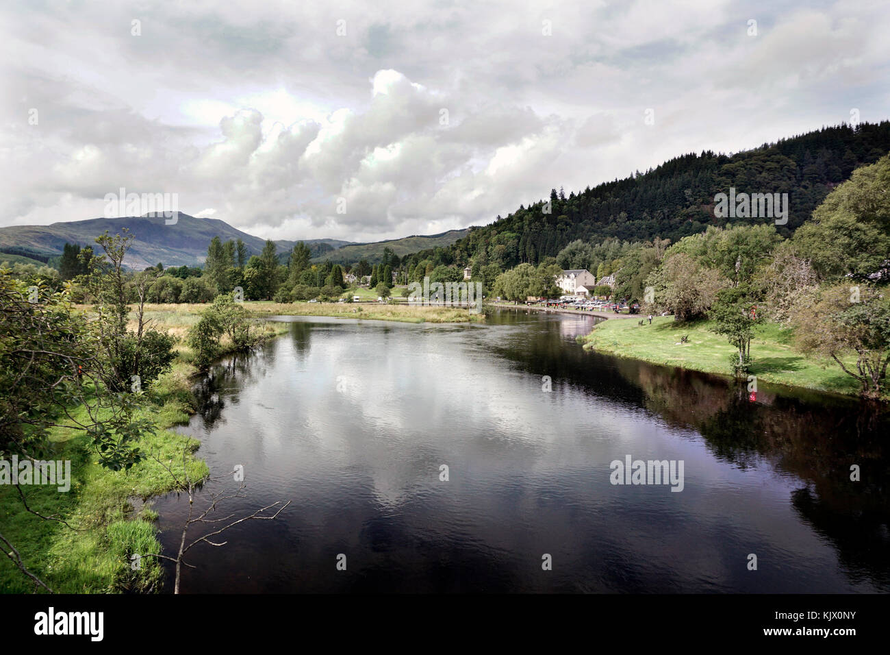 river teith callander, stirlingshire, scotland - Stock Image