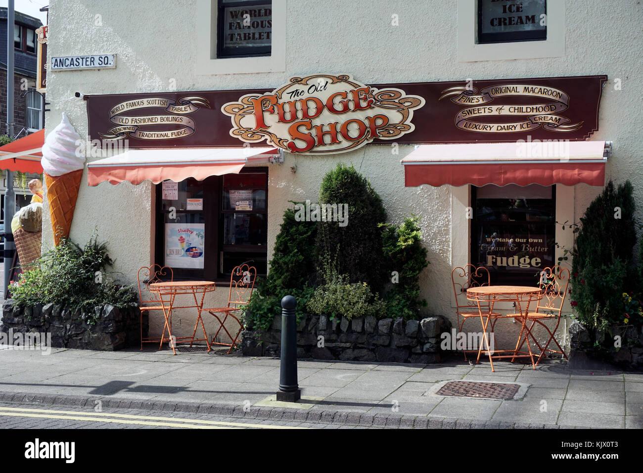 the old fudge shop callander stirlingshire scotland - Stock Image