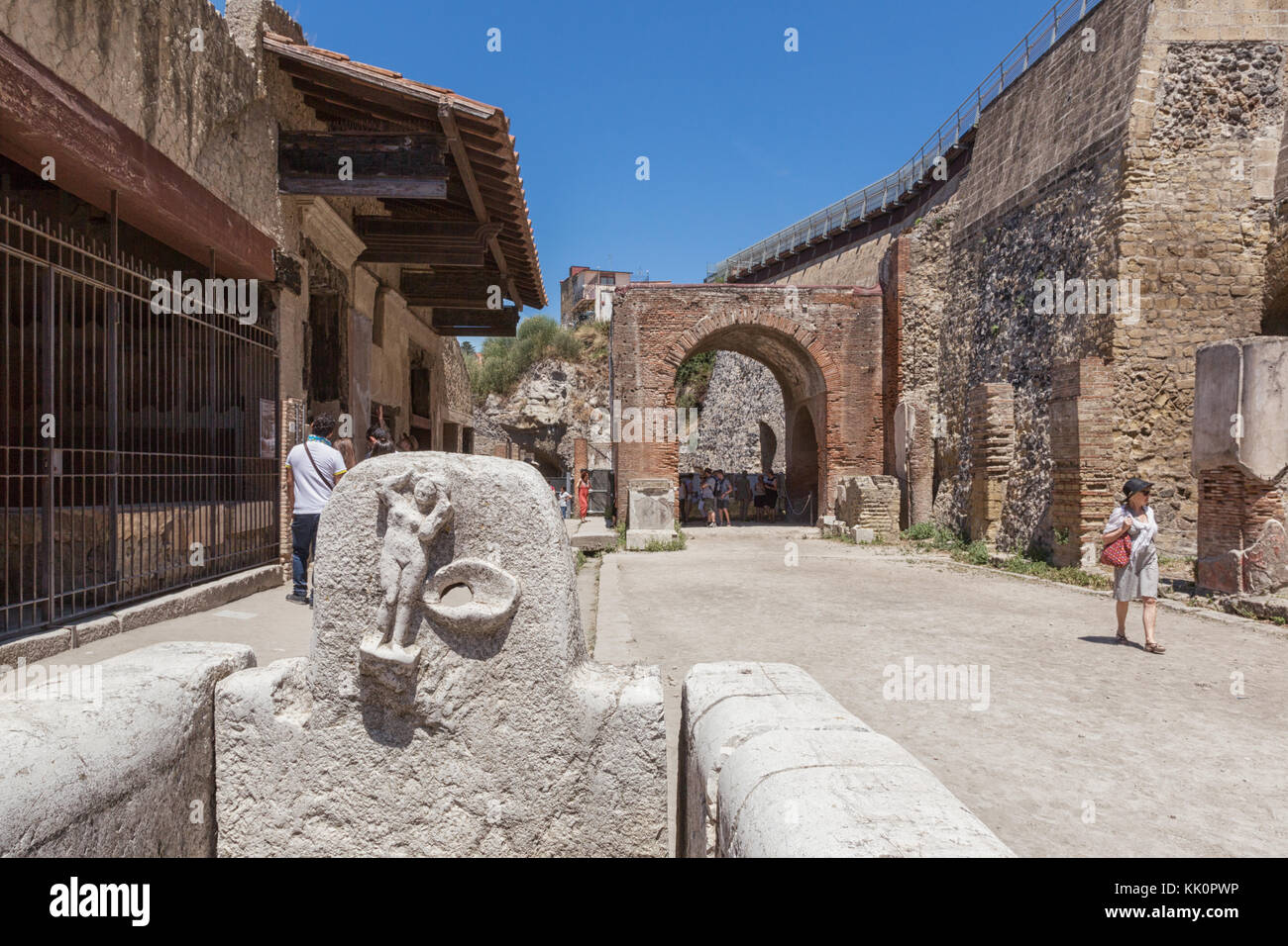 Ercolano (Italy) - Situated on a volcanic plateau overhanging the sea, Herculaneum is one of the most important - Stock Image