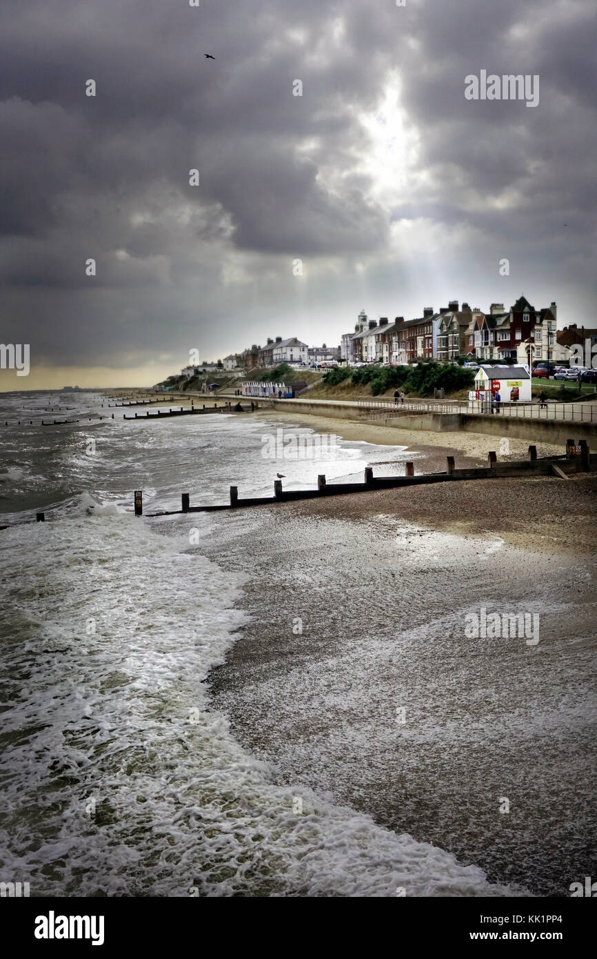rolling sea southwold - Stock Image