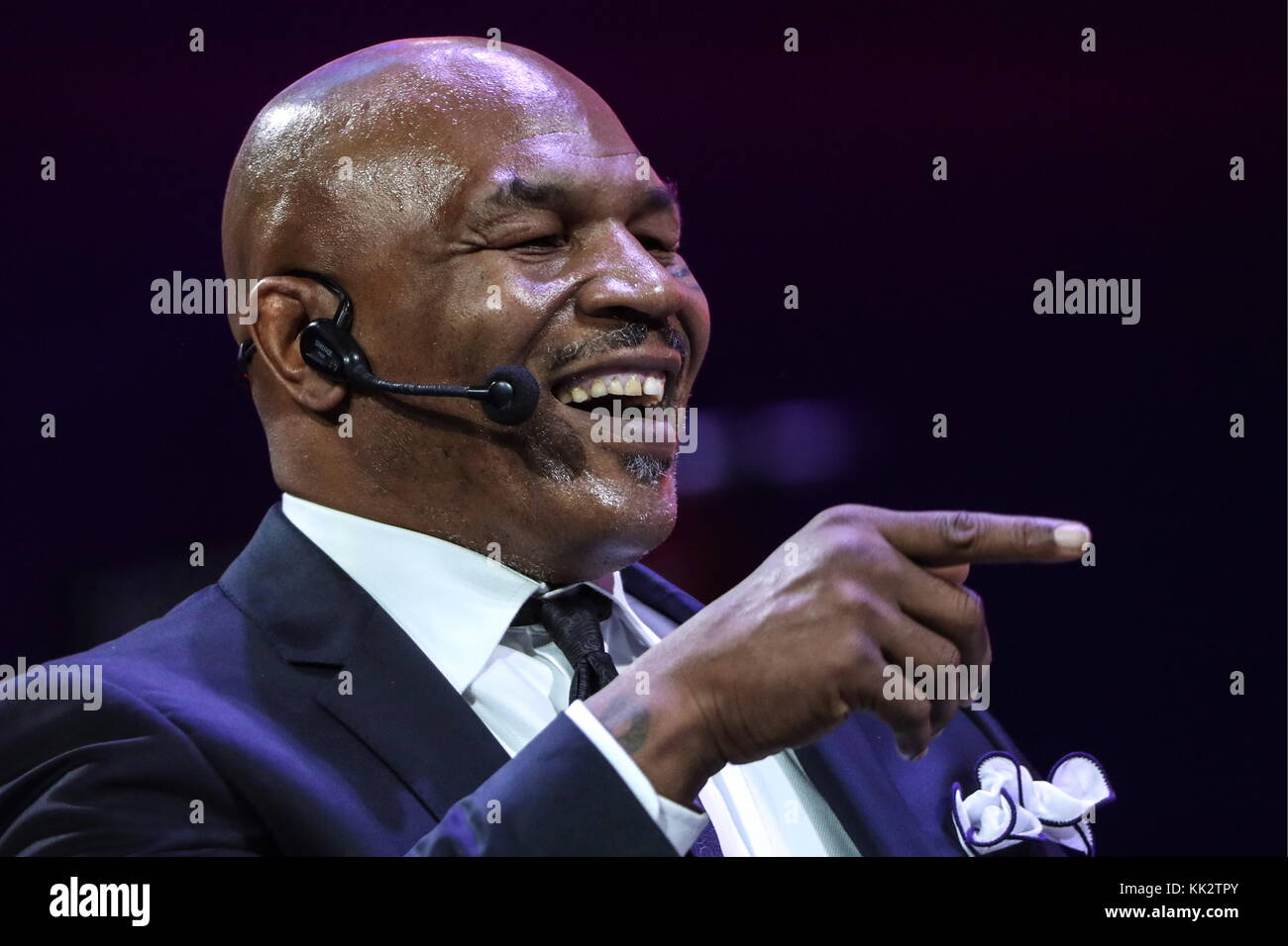 Moscow, Russia. 28th Nov, 2017. American former professional boxer Mike Tyson at the Synergy Global Forum at Moscow's - Stock Image